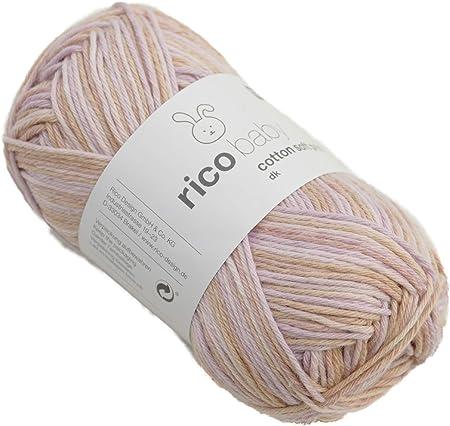 Rico Baby cotton soft print - Ovillo de Lana para bebé (Mezcla de ...
