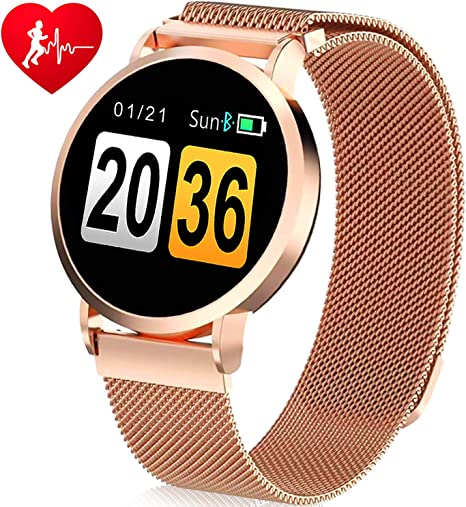 TURNMEON Smart Watch for Women Men, Fitness Activity Tracker with Heart Rate Blood Pressure Monitor Sleep Camera Smart Reminder- Sports Watch for ...