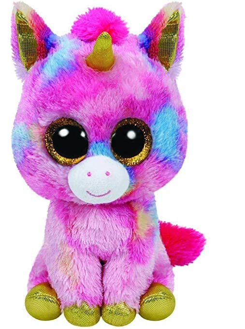 4693e989f15 Ty Fantasia The Multi Color Unicorn Beanie Boos Stuffed Animal Plush Toy  Animals   Figures