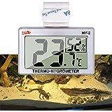 capetsma Reptile Thermometer, Digital Thermometer Hygrometer for Reptile Terrarium, Temperature and Humidity Monitor in Acryl