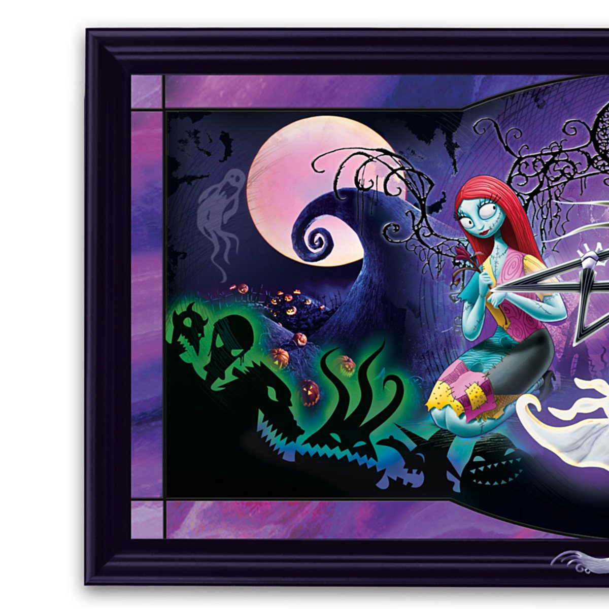 Amazon.com: Disney Nightmare Before Christmas Stained Glass Panorama ...