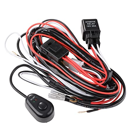 xcsource universal wiring fog light driving lamps wiring harness rh amazon co uk