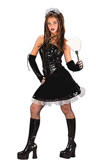 uhc teen girls corset maid outfit fancy dress halloween costume