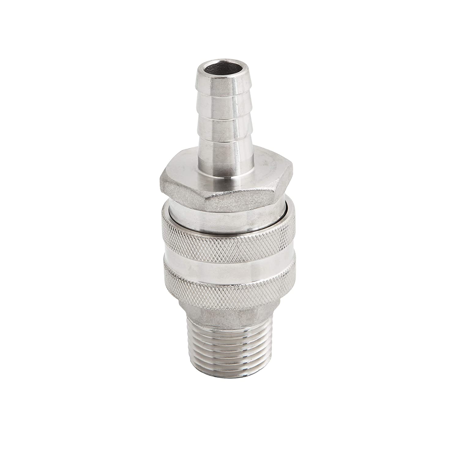 304 Stainless Steel brew kettle valve homebrew beer Quick Disconnect Barb Hose with MPT Set Home Brewing Mash Tun Barb Female MPT Male Barb Female//MPT Male