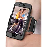 iPhone 6 6s Armband, Sport Running Armband with Phone Case & Reflective Strap, Lightweight & Adjustable, Ideal for Exercise, Workout, Jogging, Running, Hiking - for iPhone 6/6s 4.7 inch, Black