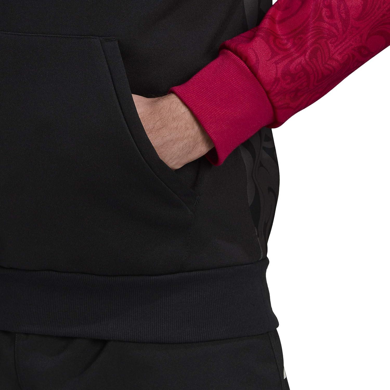 adidas Herren Hoody Maori Kapuzenpullover Schwarz