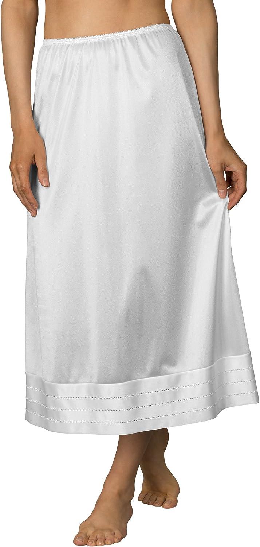 Velrose Plus Size Snip-It Crochet Edge Half Slip (6419), White, 2X