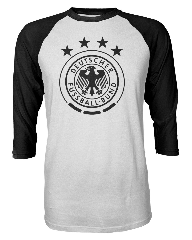 fe3d5d67da9 Amazon.com : Tcamp Germany 2018 National Soccer #1 Manuel NEUER World  Championship Men's Quarter Sleeve Raglan T-Shirt : Sports & Outdoors