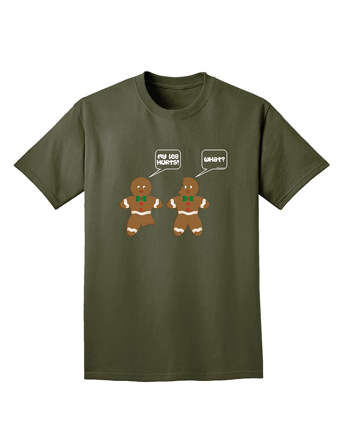 9b5781c29 Amazon.com: TooLoud Funny Gingerbread Conversation Christmas Adult Dark T- Shirt: Clothing