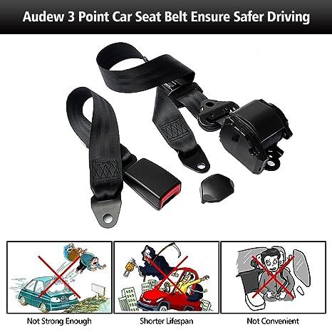 Amazon.com: Audew Seat Belts Safety Car Seatbelt Universal ...