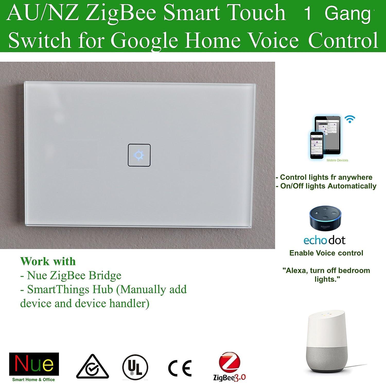 Smart ZigBee 2 Gang AU/NZ Approved Light Switch for Wireless Home ...