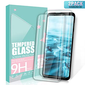SGIN Protector de Pantalla Galaxy S9, [2 Pack] 3D Touch Compatible Cristal Templado