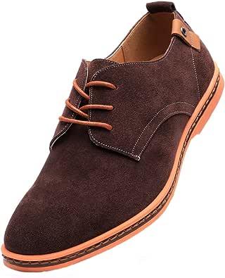 Dadawen - Zapatillas de piel para hombre