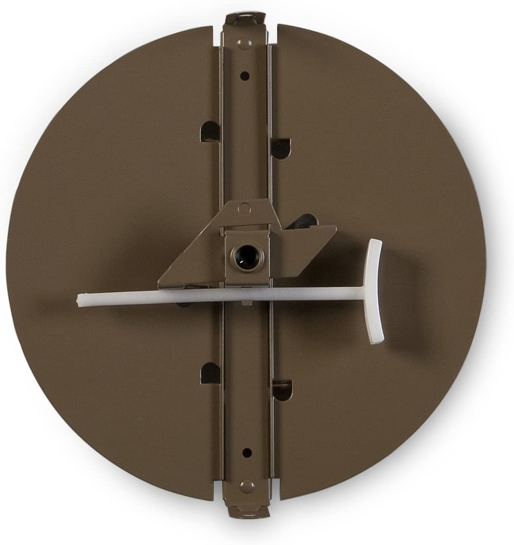 Accord Ventilation 34310BR 10-Inch Round Butterfly Ceiling Damper, 10 inch, Non-Insulated