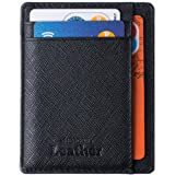 Wallet - RFID Blocking Ultimate Slim & Safe Minimalist By Mercor Leather – Premium Rugged Genuine PU Leather Material, Smart, Stylish & Space-Saving Design, 7 Slots For Credit Cards & Cash