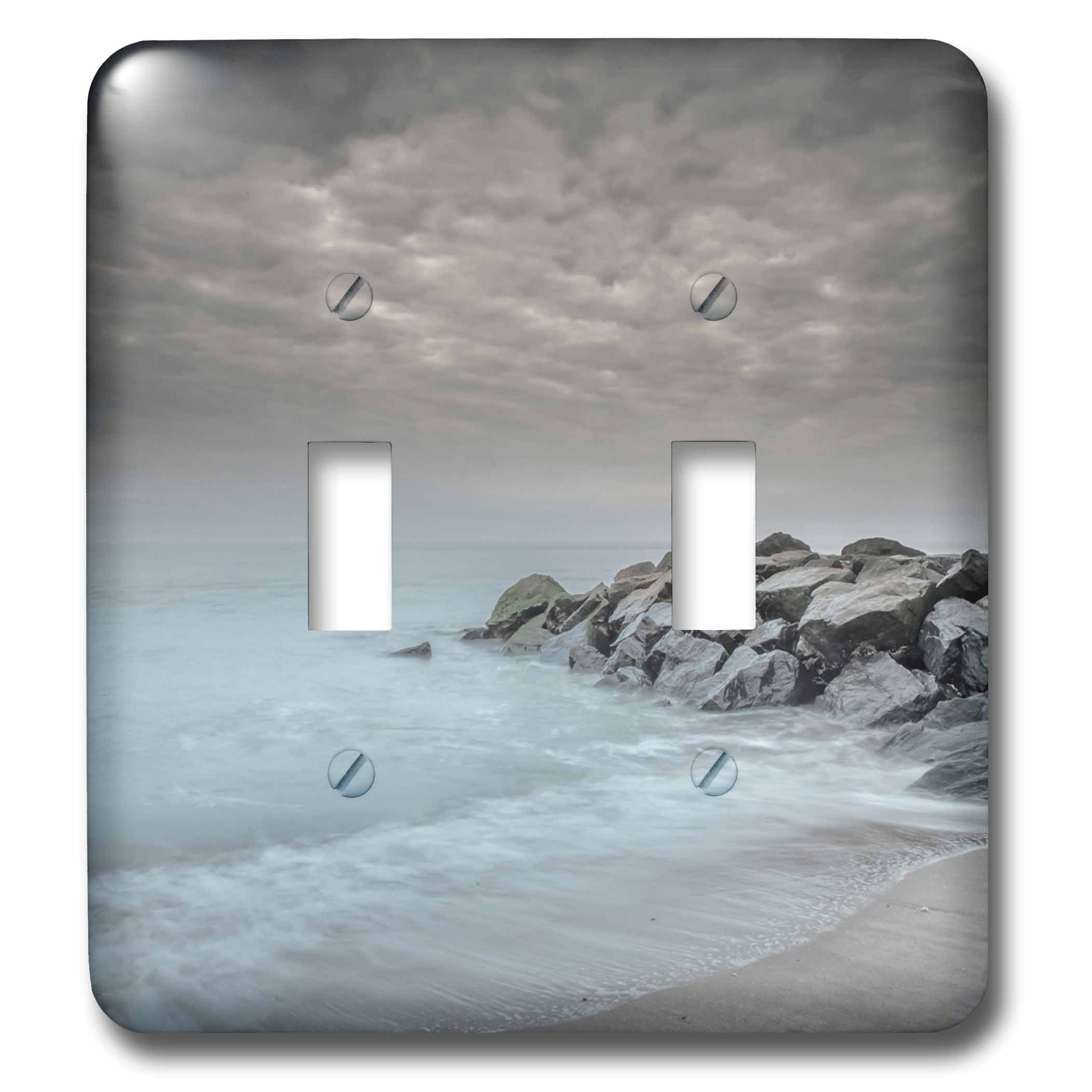 3dRose Danita Delimont - Beaches - USA, New Jersey, Cape May National Seashore. Stormy beach landscape. - Light Switch Covers - double toggle switch (lsp_279229_2) by 3dRose