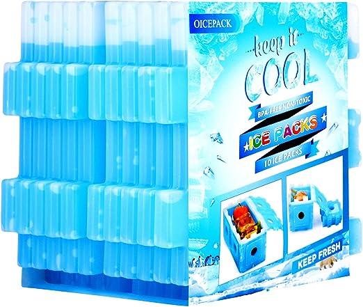 refrigeradores delgados y refrigeradores de larga duraci/ón y congeladores para el almuerzo azul bolsas de almuerzo y refrigeradores Paquetes de hielo reutilizables para fiambreras juego de 4