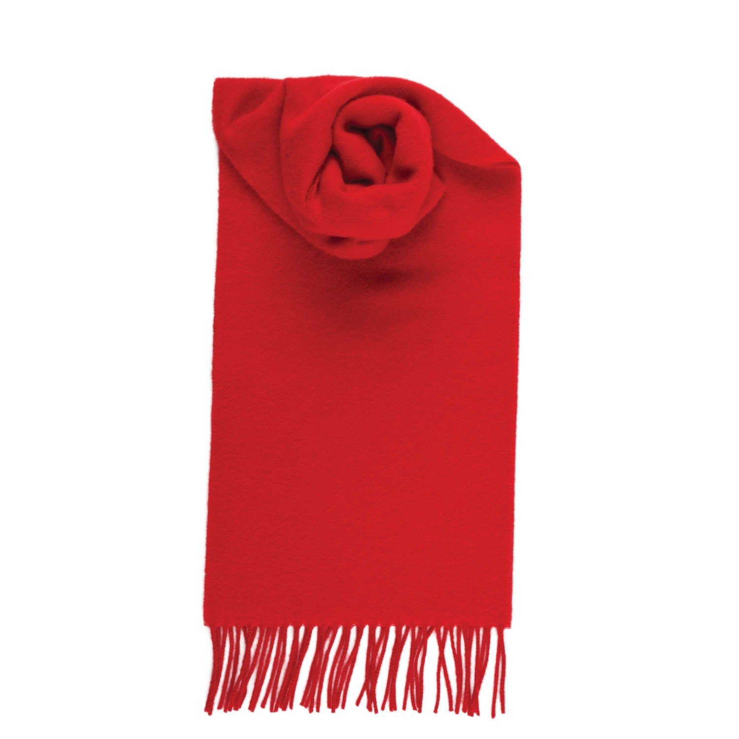 Red Johnstons Of Elgin Women's Pure Cashmere Plain Scarf