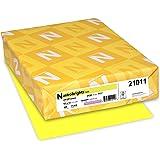 "Neenah Astrobrights Color Paper, 8.5"" x 11"", 24 lb/89 GSM, 500 Sheets (21011), Yellow (Lift-Off Lemon)"