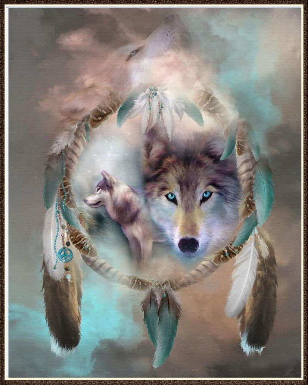 5D Pintura Por Diamantes Lobo