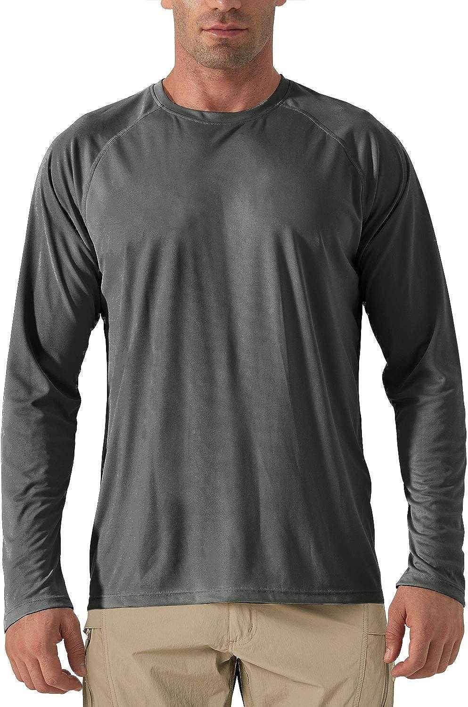 Langarm Funktionsshirt Schnelltrocknend Komfort Sommer Outdoor Shirt Wandern Jogging Schutzkleidung Laufshirt KEFITEVD Herren Shirt UV Schutz UPF 50