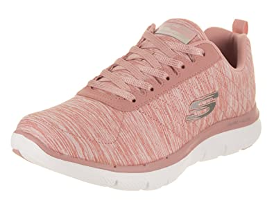 ea2050e31e59 Image Unavailable. Image not available for. Colour  Skechers Women s Flex  Appeal 2.0 Rose Casual Shoe ...
