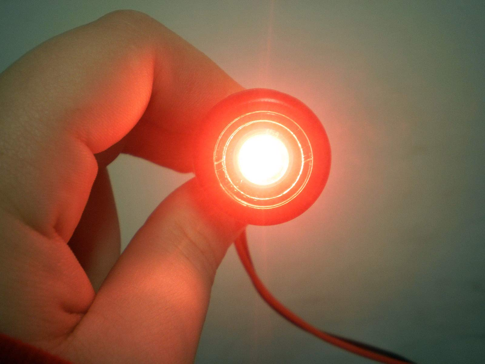 10 Pcs 3/4'' 12 Volt LED Marker Motorcycle ATV Light Red Trailer Truck J-53 by Unknown