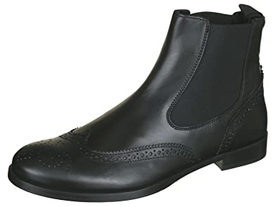 half off 26d1c fbd9b Gallucci 5078A Chelsea Boots Stiefeletten mit Budapester Muster, Unisex