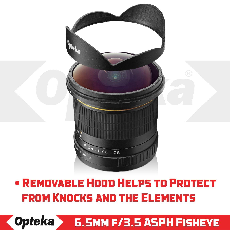 Opteka 6.5mm f//3.5 Fisheye Lens for Nikon D7500 D7000 D7100 D7200 D5300 D3300 D5100 D3200 and D3100 Digital SLR Cameras D5200 D3400 D5500