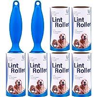 UU CAKIT Pet Lint Roller 2 Roller + 6 Refill Rolls for Pet Hair Extra Sticky Fluff Roller Pet Epilator Fluff Hair Brush…