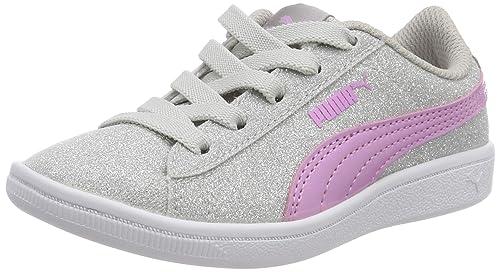 Puma Vikky Glitz AC PS, Zapatillas para Niñas, Plateado Silver-Orchid 01, 28 EU: Amazon.es: Zapatos y complementos