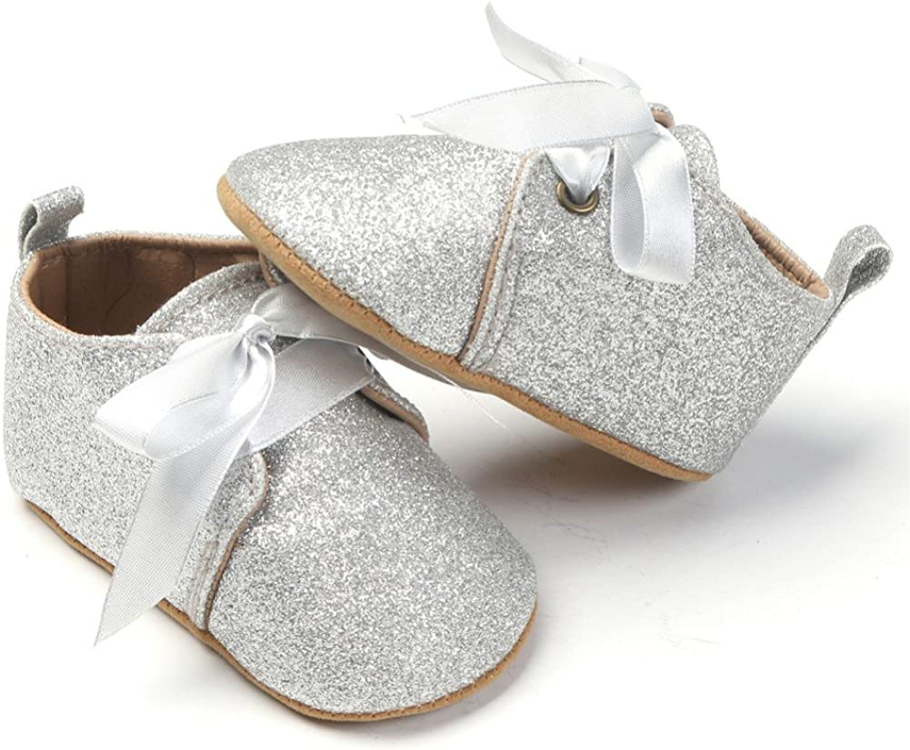 Weixinbuy Toddler Baby Girls Boy Sequins Soft Sole Outdoor Crib Shoes Moccasins