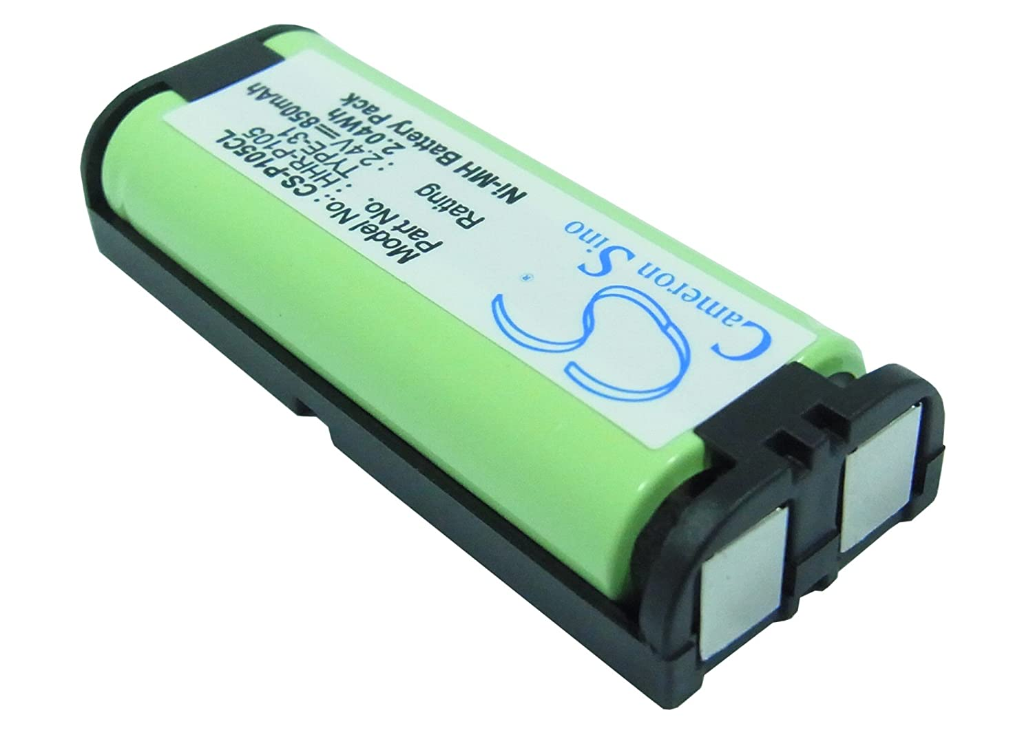 850mAh Battery For Panasonic KX-TG2411, KX-TG2420, KX-TG2421, KX-TG2422, CPH-508 VINTRONS Digi-Tech CS-P105CL