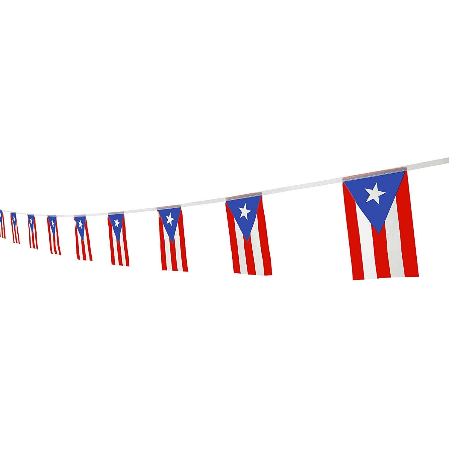 Kind girl puerto rico flag puerto rican flag100feet 76pcs national country world pennant flags bannerparty decorations supplies for olympicsbarindoor