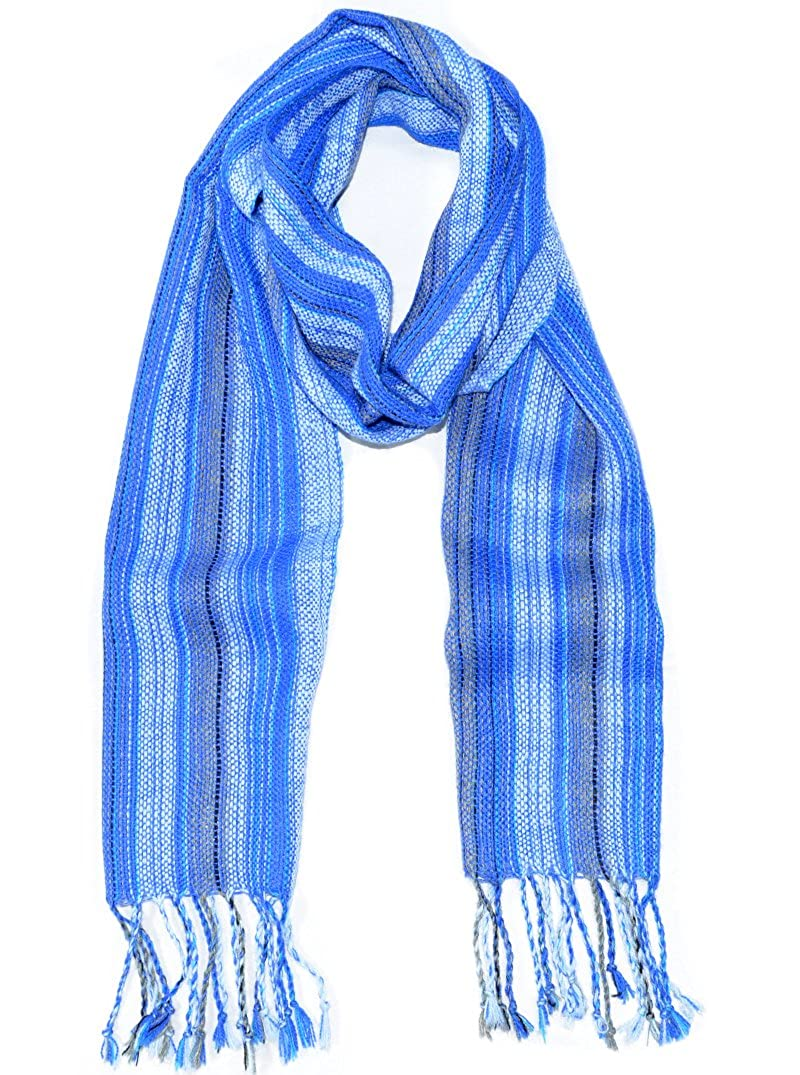 Gamboa - Handmade Alpaca Scarf - Striped Design - Available in Various Colors