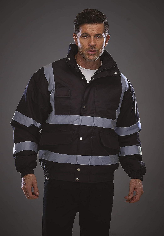 Yoko Unisex Sicherheitskleidung Hi Vis Sicherheits-Bomberjacke