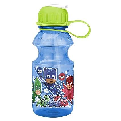 Zak Designs PJ Masks 14 Ounce Reusable Plastic Water Bottle Leak Proof BPA Free