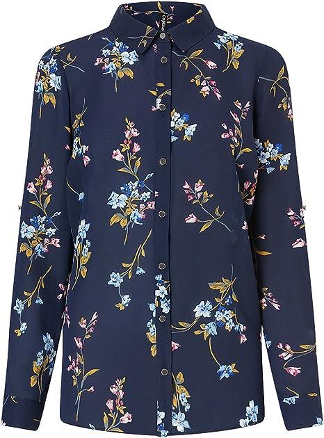 Lipsy Mujer Camisa con Estampado Floral Negro EU 32 (UK 4 ...