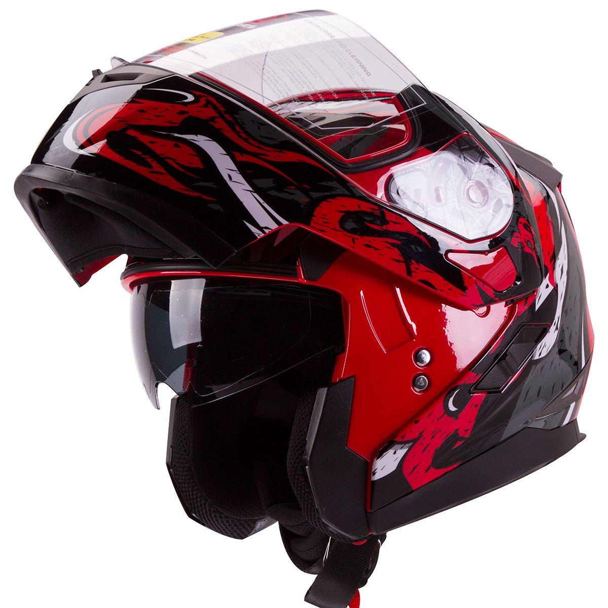 VIPER-Modular-Dual-Visor-Motorcycle