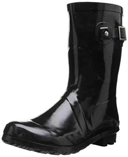 Women Solid Mid Waterproof Rain Boot