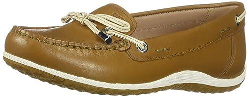 Geox D Vega MOC B, Mocassins (loafers) Femme, Bleu (BlueSkin C4ea5), 39 EU