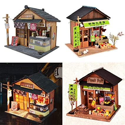 Admirable Amazon Com Natfur 1 24 Diy Wood Dolls House Kits Chinese Download Free Architecture Designs Rallybritishbridgeorg