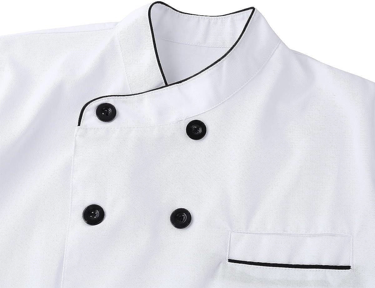 joyMerit Giacca Da Cuoco A Manica Lunga Da Cucina Uniforme Unisex Da Cucina Dal Design Classico