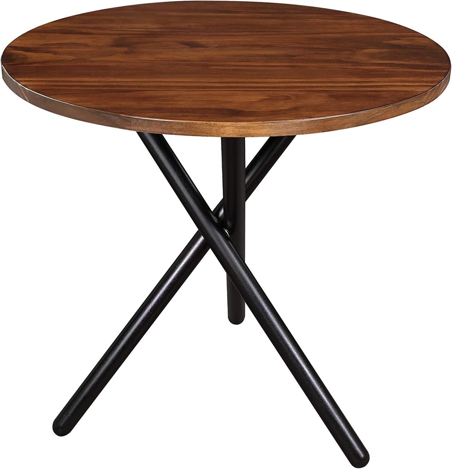 Casual Home Cadenza Modern End table, Two-Tone (Mocha, Black)