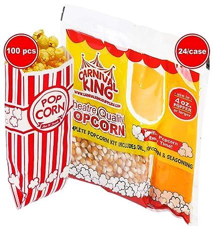 Carnival King - Kit todo en uno de palomitas para 4 onzas ...