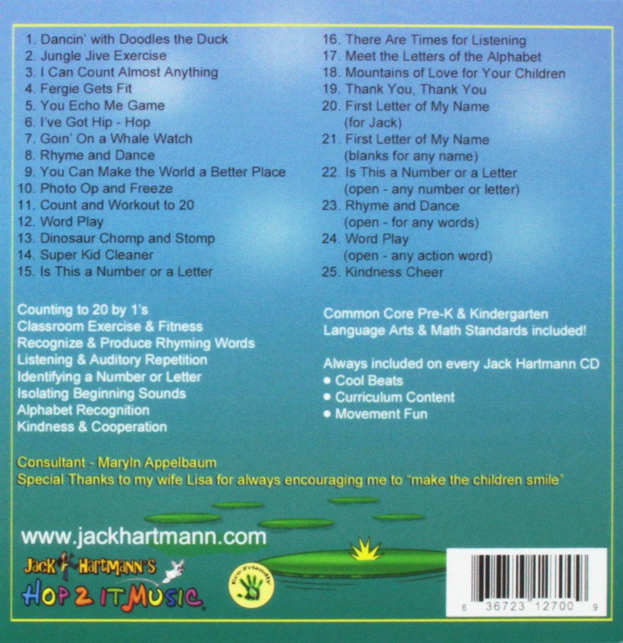 Jack Hartmann Jump Jive Jiggle Amazoncom Music