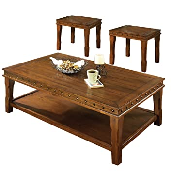 Steve Silver Company 3 Piece Odessa Occasional Table Set (Cocktail Table:  50u0026quot; X