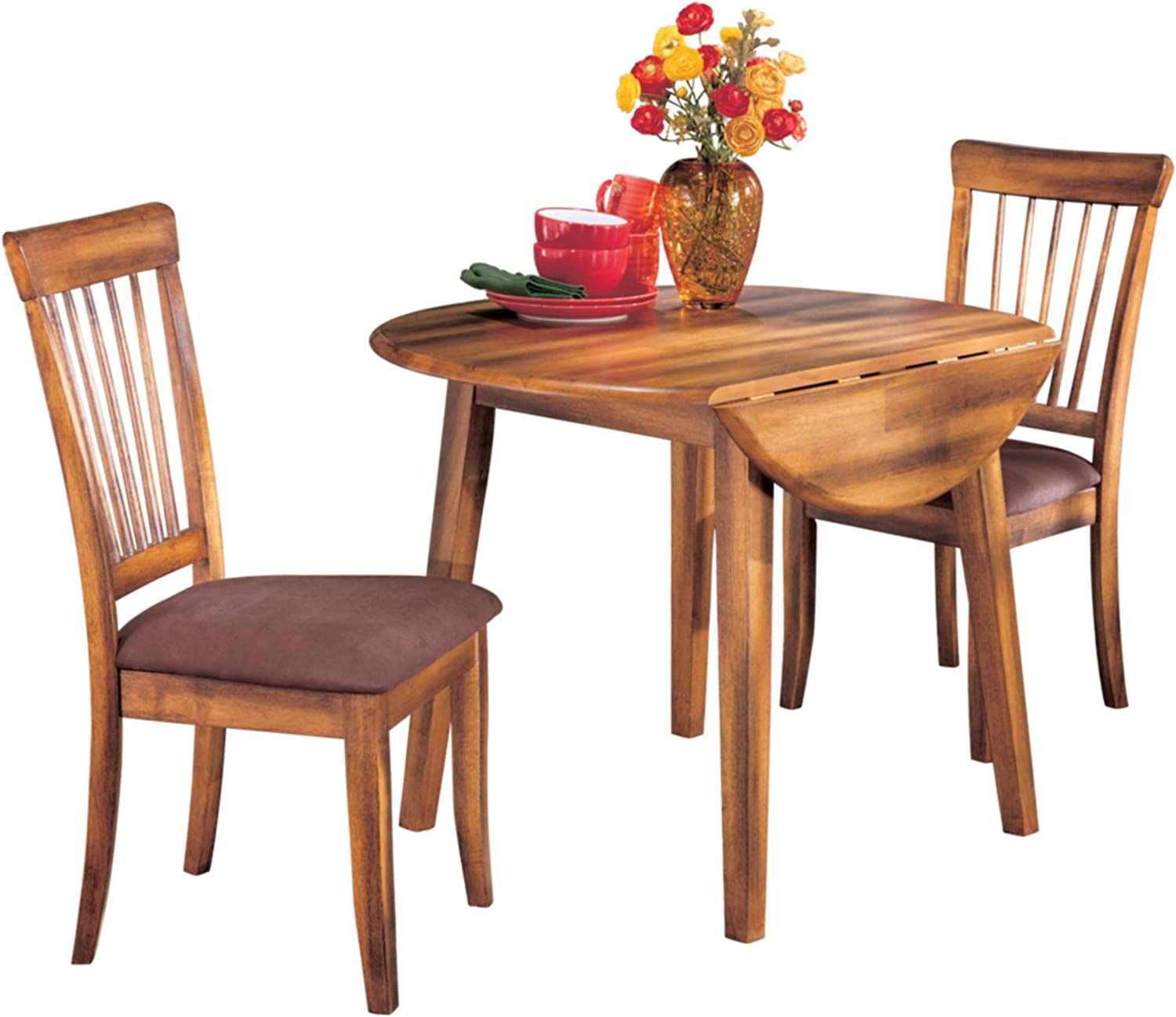 Amazon Com Signature Design By Ashley Berringer Dining Room Drop Leaf Table Rustic Brown Tables