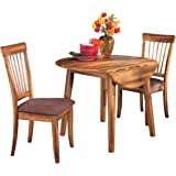 Signature Design by Ashley Berringer Dining Room Drop Leaf Table, Rustic Brown