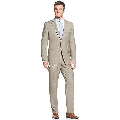 Amazon.com: Traje de lana para hombre de la marca Lauen ...